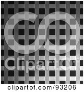 Royalty Free RF Clipart Illustration Of A Metal Mesh Grate Over Black 3