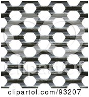 Royalty Free RF Clipart Illustration Of A Metal Mesh Grate Over White 2 by Arena Creative