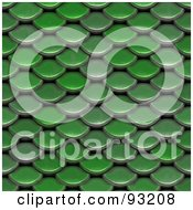 Royalty Free RF Clipart Illustration Of A Background Of Green Scales Or Roofing Shingles
