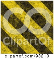 Royalty Free RF Clipart Illustration Of A Background Of Distressed Diagonal Thick Hazard Stripes by Arena Creative