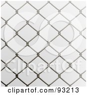 Royalty Free RF Clipart Illustration Of A Chain Link Fencing Background 1 by Arena Creative