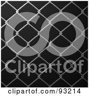 Royalty Free RF Clipart Illustration Of A Chain Link Fencing Background 2 by Arena Creative
