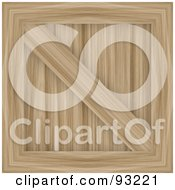 Royalty Free RF Clipart Illustration Of A Light Wooden Crate by Arena Creative