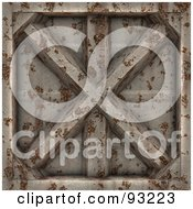 Royalty Free RF Clipart Illustration Of A Rusty Metal Panel by Arena Creative