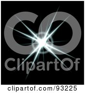 Royalty Free RF Clipart Illustration Of A White Burst On Black 1