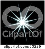 Royalty Free RF Clipart Illustration Of A White Burst On Black 2