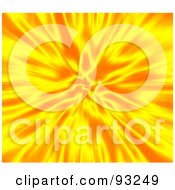 Royalty Free RF Clipart Illustration Of A Hot Explosion Of Yellow And Orange by Arena Creative