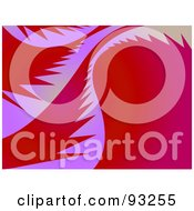 Royalty Free RF Clipart Illustration Of Purple Tropical Palm Leaves On Red