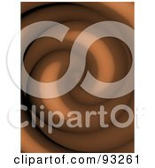 Royalty Free RF Clipart Illustration Of A Background Of A Chocolate Twirl