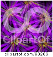 Royalty Free RF Clipart Illustration Of A Background Of Purple Floral Like Bursts On Black