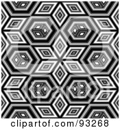 Royalty Free RF Clipart Illustration Of A Black And White Background Pattern