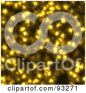 Royalty Free RF Clipart Illustration Of A Sparkling Yellow Background Of Lights by Arena Creative