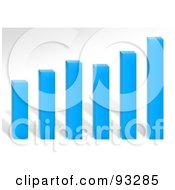 Royalty Free RF Clipart Illustration Of A Blue Bar Graph Over Gray by Arena Creative