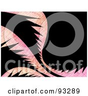 Royalty Free RF Clipart Illustration Of A Pink Grungy Palm On Black