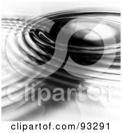 Royalty Free RF Clipart Illustration Of Black Ripples On A White Surface