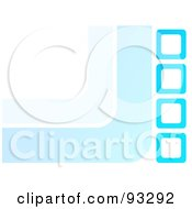 Royalty Free RF Clipart Illustration Of A White Background With Blue Curves And Boxes