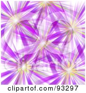 Royalty Free RF Clipart Illustration Of A Background Of Purple And Orange Bursts On White