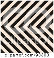 Royalty Free RF Clipart Illustration Of A Zig Zag Hazard Stripes Background In Black And White by Arena Creative