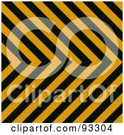 Royalty Free RF Clipart Illustration Of A Zig Zag Hazard Stripes Background In Black And Orange
