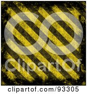 Royalty Free RF Clipart Illustration Of A Black Grunge Border With Diagonal Yellow And Black Hazard Stripes