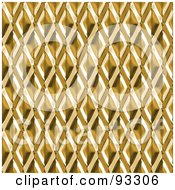 Royalty Free RF Clipart Illustration Of A Seamless Golden Diamond Metal Pattern by Arena Creative