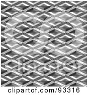 Royalty Free RF Clipart Illustration Of A Seamless Background Of A Metal Diamond Patterned Panel