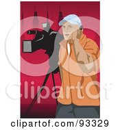 Royalty Free RF Clipart Illustration Of A Camera Man 2