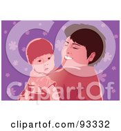Royalty Free RF Clipart Illustration Of A Mom And Child 3