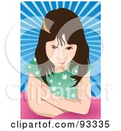 Royalty Free RF Clipart Illustration Of A Mad Girl by mayawizard101