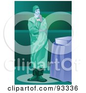Royalty Free RF Clipart Illustration Of A Doctor 3 by mayawizard101