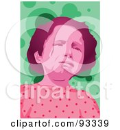 Royalty Free RF Clipart Illustration Of A Girl Crying 4 by mayawizard101