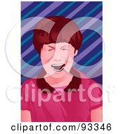 Royalty Free RF Clipart Illustration Of A Boy Crying 1 by mayawizard101