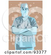 Royalty Free RF Clipart Illustration Of A Doctor 5 by mayawizard101