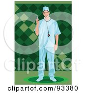 Royalty Free RF Clipart Illustration Of A Doctor 1 by mayawizard101