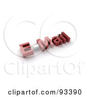 Royalty Free RF Clipart Illustration Of 3d Red E Mail With White Accents
