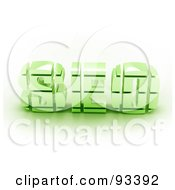 Royalty Free RF Clipart Illustration Of 3d Green SEO by MacX