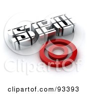 Royalty Free RF Clipart Illustration Of 3d SEO Resting By A Red Target