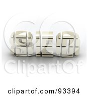 Royalty Free RF Clipart Illustration Of 3d White SEO by MacX