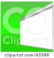 Blank Internet Browser Window Over Green