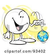 Royalty Free RF Clipart Illustration Of A Moodie Character With The World On A String