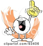 Royalty Free RF Clipart Illustration Of A Moodie Character Sports Fan