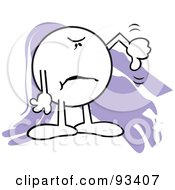 Royalty Free RF Clipart Illustration Of A Moodie Character Holding One Thumb Down