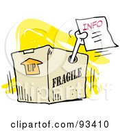 Royalty Free RF Clipart Illustration Of A Moodie Character Giving Out Inside Information