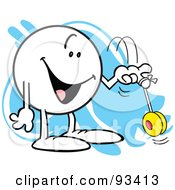 Royalty Free RF Clipart Illustration Of A Moodie Character With A Yo Yo