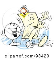 Royalty Free RF Clipart Illustration Of A Moodie Character Pushing The Envelope