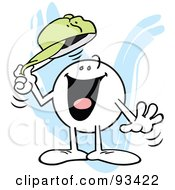 Royalty Free RF Clipart Illustration Of A Moodie Character Tipping His Hat
