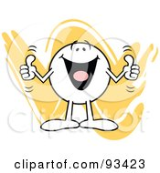 Royalty Free RF Clipart Illustration Of A Moodie Character Holding Two Thumbs Up