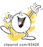 Royalty Free RF Clipart Illustration Of A Moodie Character Snapping His Fingers by Johnny Sajem