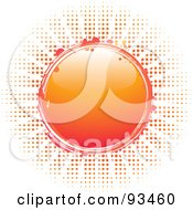 Royalty Free RF Clipart Illustration Of A Shiny Orange Circle Sun Over Halftone Dots On White