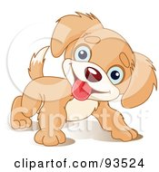 Royalty Free RF Clipart Illustration Of A Playful Puppy Dog Tilting His Head And Smiling